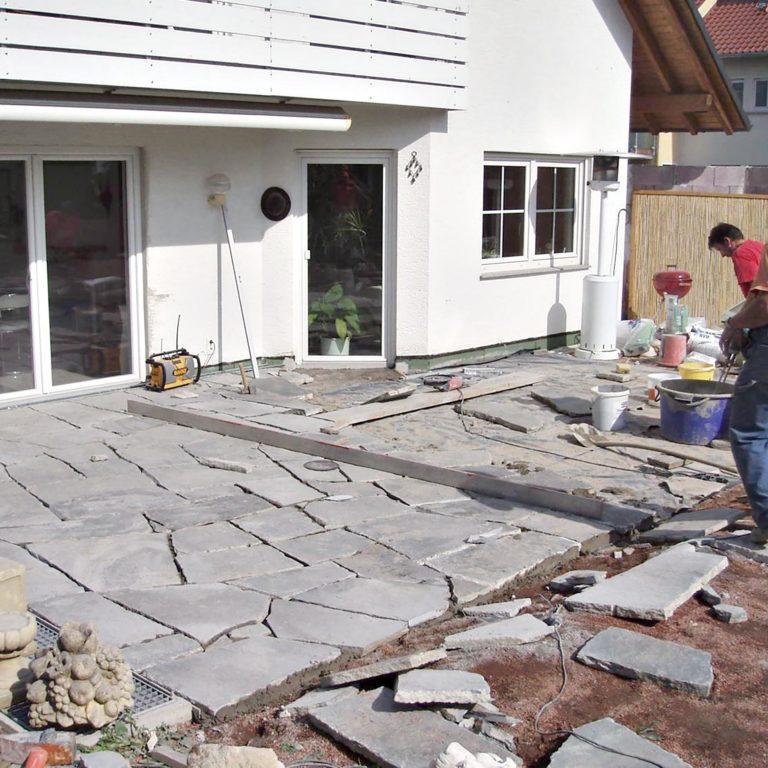 Gauder-bau-stuttgart-Außenanlage Platten,Pool Bürkle 07.2006-06