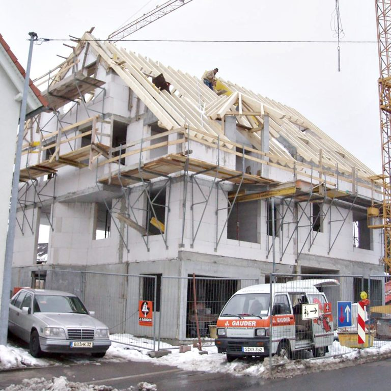 Gauder-bau-stuttgart-Hochbau Neubau Privat Doppelhaus Krämer 01.2007-03