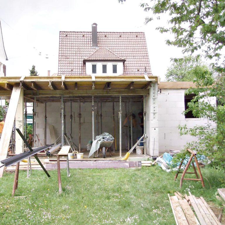 Hochbau Anbau Privat Mündler 05.2006-02
